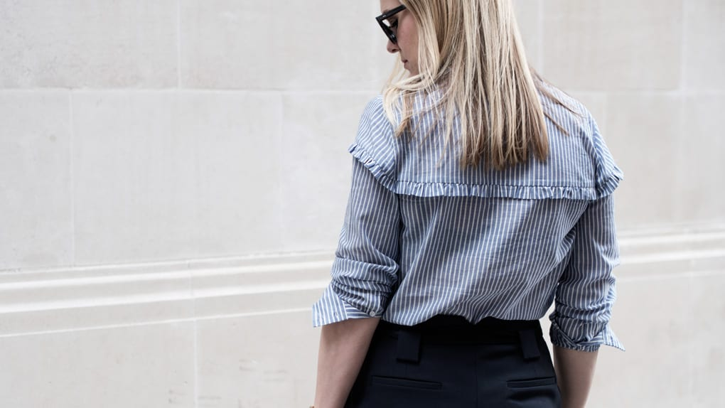 Second Female Stripe Frill Blouse & ME+EM Trousers
