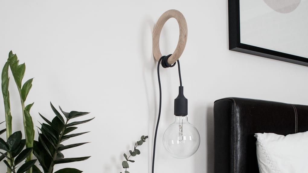 Muuto E27 Hanglamp : Converting a muuto e pendant lamp into a bedside lamp