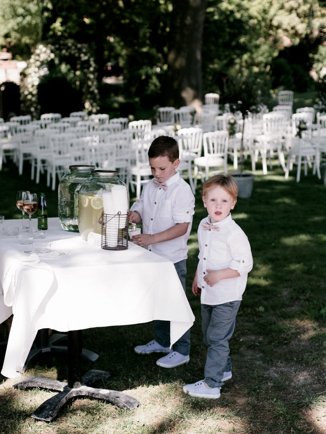 Our nephews sneaking a fresh lemonade