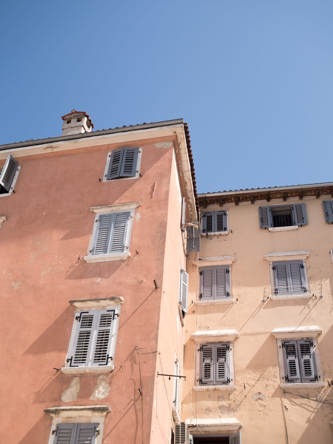 Pastel buildings - Rovinj, Croatia