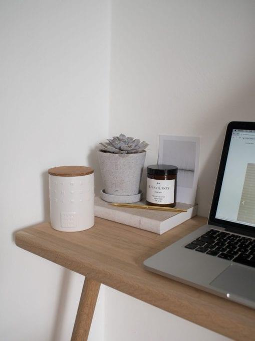 Calming Minimal Home Workspace