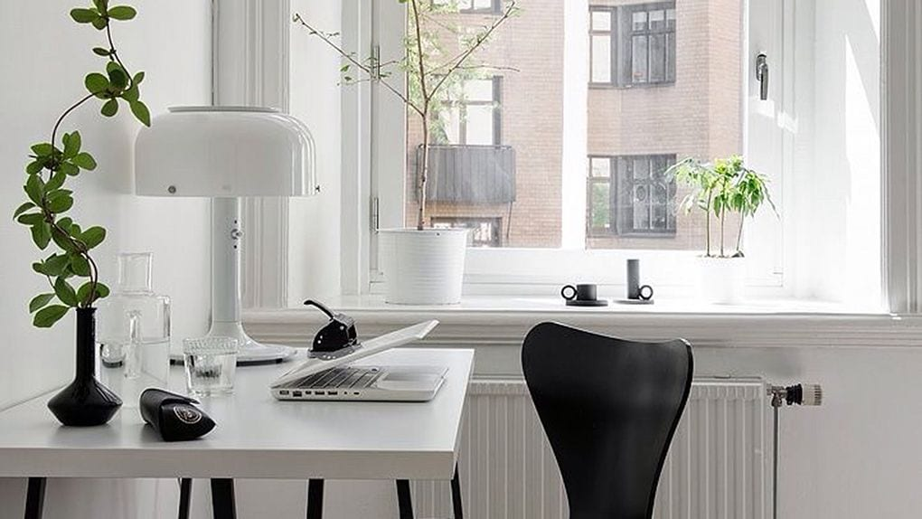 Scandinavian Minimalist Home Office Study UK