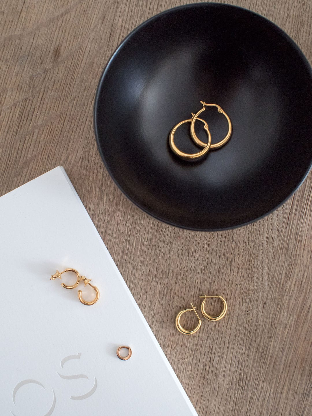 Minimal Gold Hoop Earrings UK
