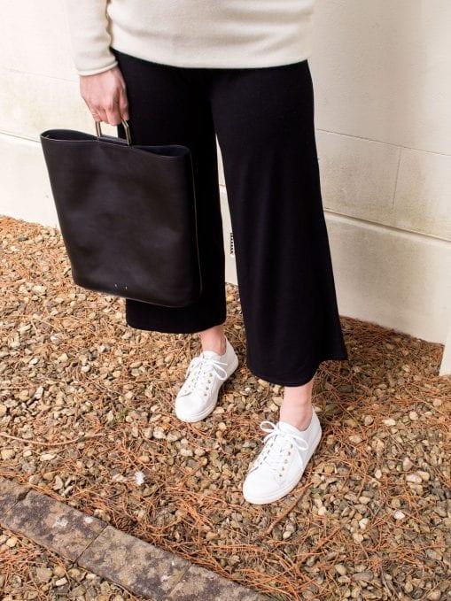 ME+EM Cocoon Cashmere Jumper & Cropped Black Trousers