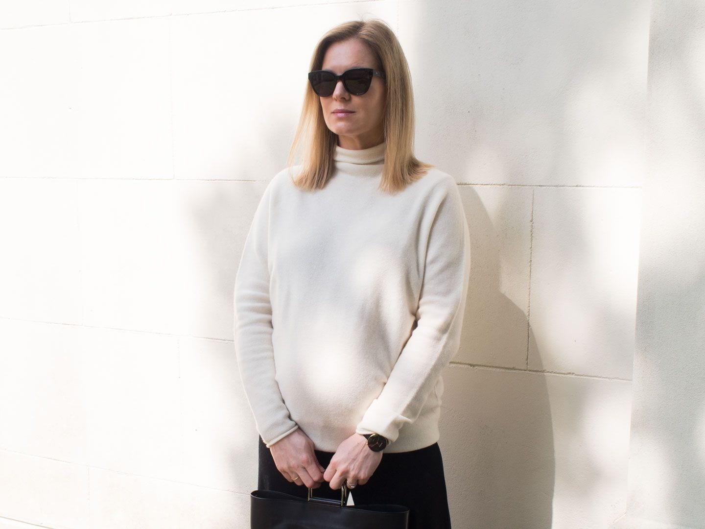 ME+EM Cocoon Cashmere Jumper & Cropped Black Trousers