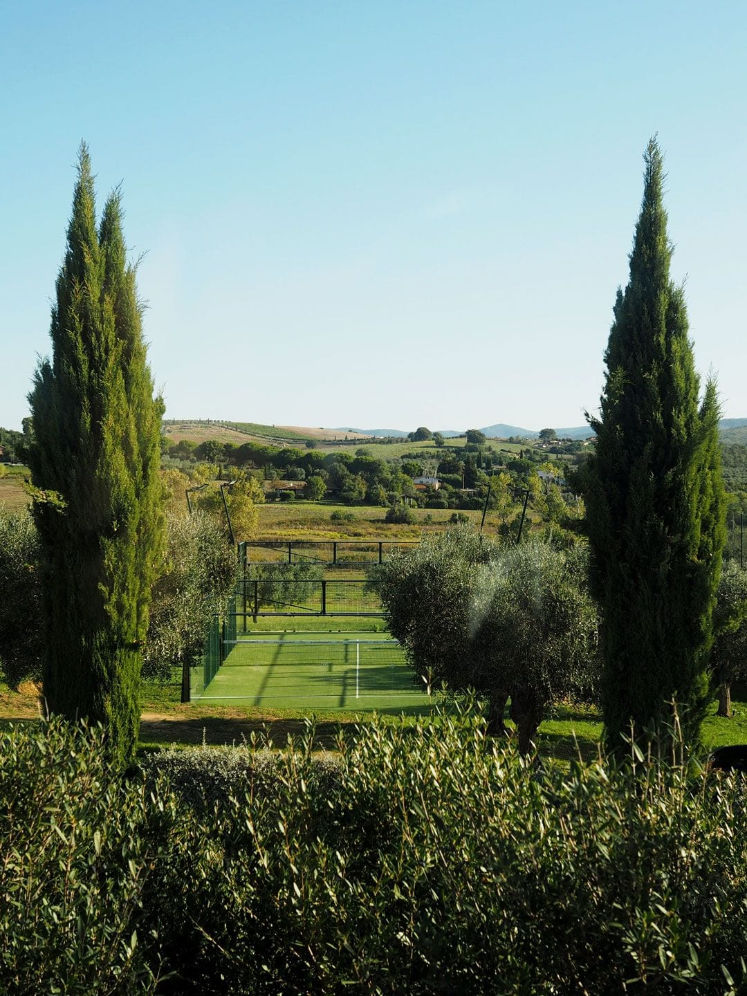 Tennis Courts at Locanda Rossa, Capalbio, Tuscany