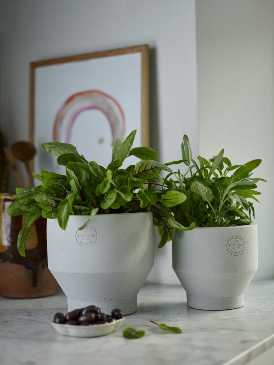 Skagerak Edge Indoor Pots in Light Grey