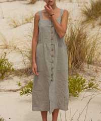 Pouli the Label Rini Linen Sun Dress
