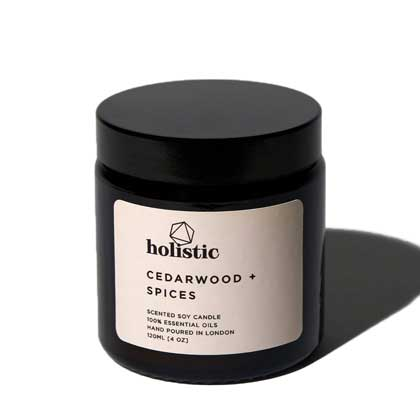 Holistic London Cedarwood + Spices Natural Soy Candle