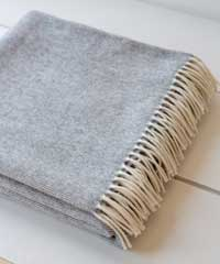 The Small Home Super-soft Merino Blanket Pale Grey