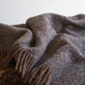 Oggetto Shetland Wool Throw