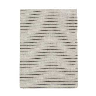 Workshop Black + Natural Stripe Linen Tea Towel