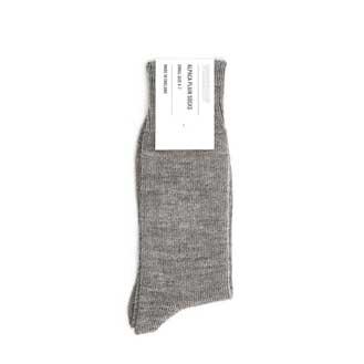 Workshop Grey Alpaca Plain Socks