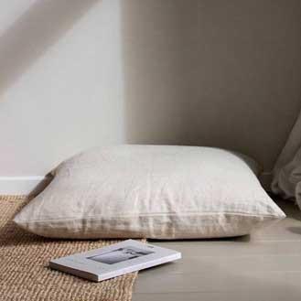 Workshop Natural Linen Floor Cushion 90x90
