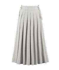 Berjoan Gingham Pleat & Tie Skirt