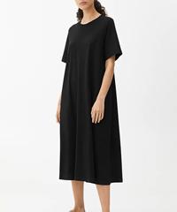ARKET A-Line T-Shirt Midi Dress Black