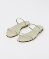 Aeyde Alek Pistachio Nappa Flat Sandals