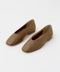 Aeyde Kirsten Khaki Nappa Ballerina Flats