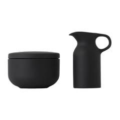 Olio by Barber Osgerby Black Sugar and Creamer Set