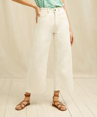 People Tree Ariel Wide Leg Organic Cotton Jean In Cream